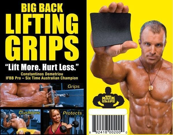 Big Back Lifting Grips Straps, Weightlifting Gloves, Fitness Glove