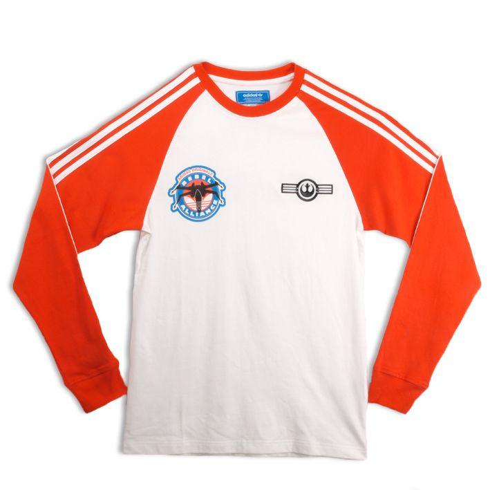 Adidas Originals Men Star Wars Long Sleeved Tee Shirt New