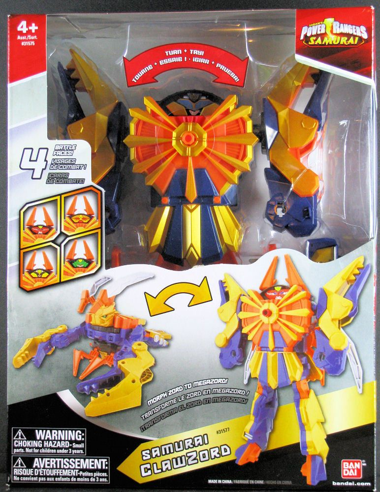 Power Rangers Samurai Deluxe Clawzord Megazord 31575 31577