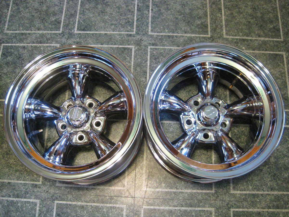 Chrome American Racing Wheels 15 x 8 5 Torq Thrust GM Bolt Hot Rod SS