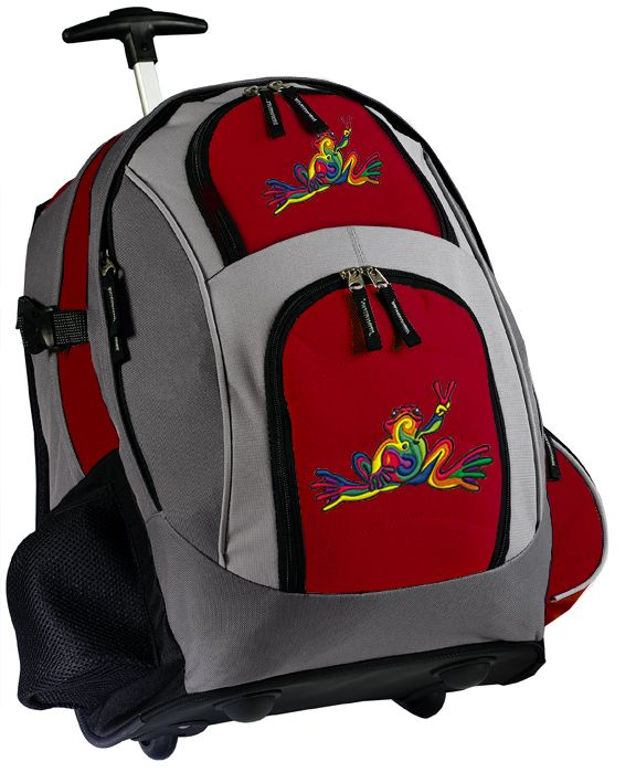 Peace Frog Rolling Backpacks Best Wheeled Backpack Peace Frogs Gifts