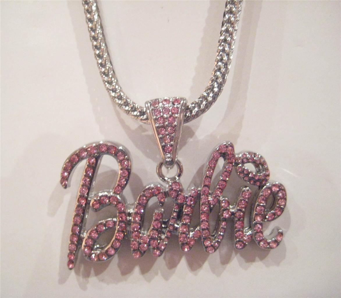 Iced Out Nicki Minaj Barbie Pendant Necklace Hip Hop P