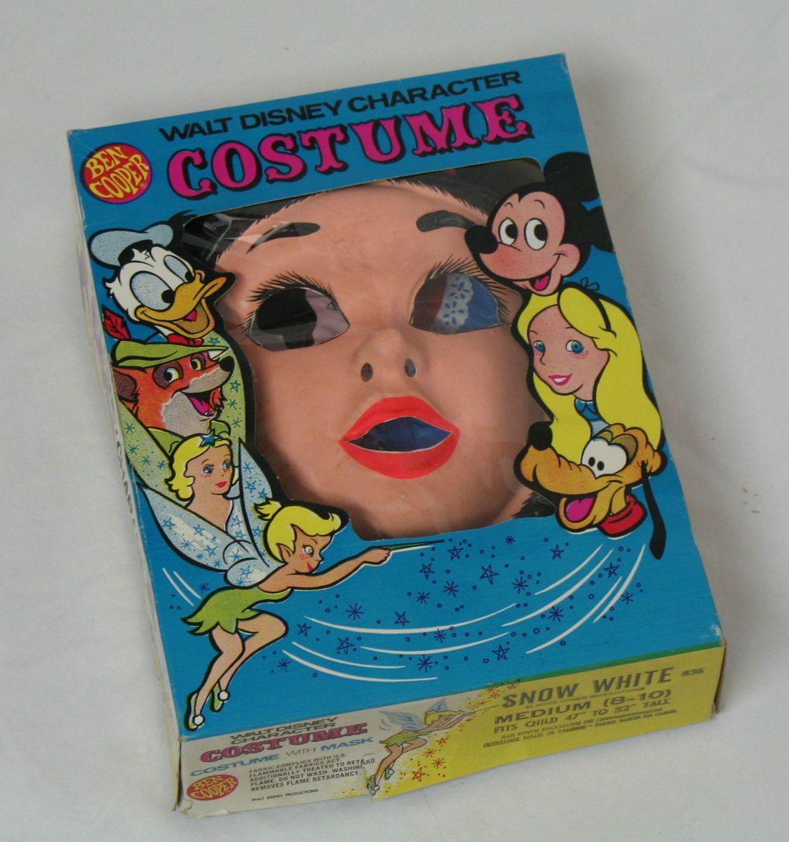 Snow White Costume Mask Ben Cooper medium (8 10)Original Box Disney