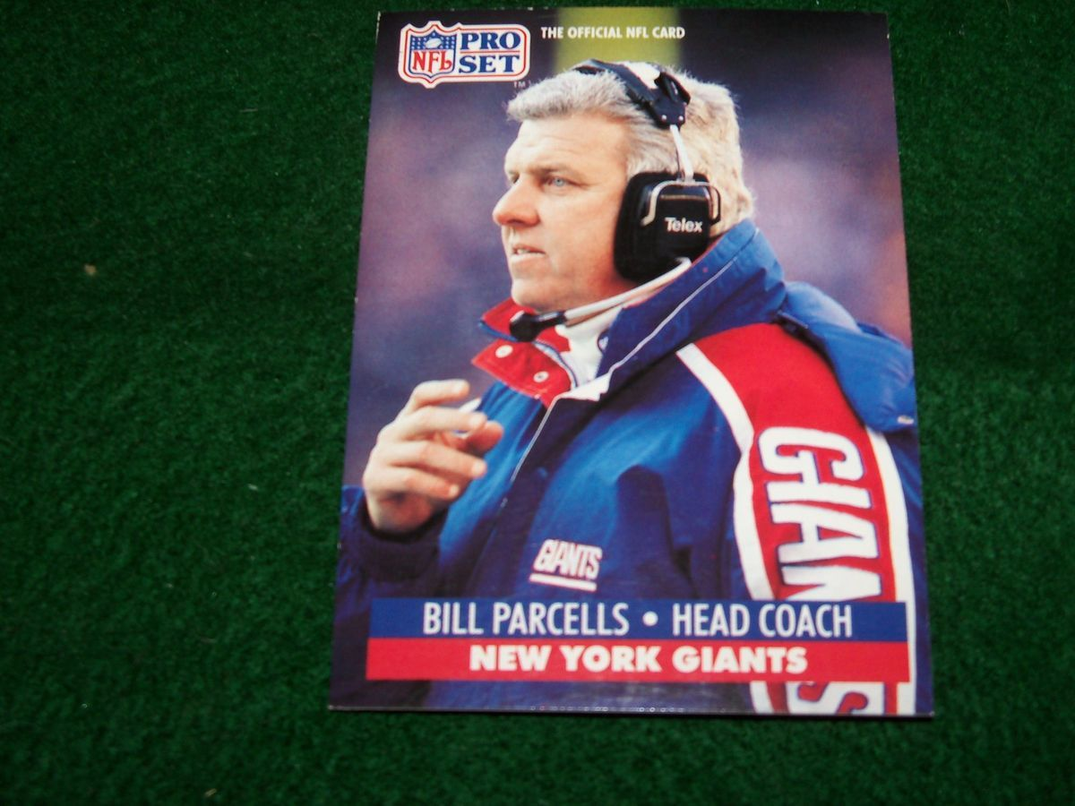 Bill Parcells New York Giants Head Coach 1991 Pro Set Card 72 Mint