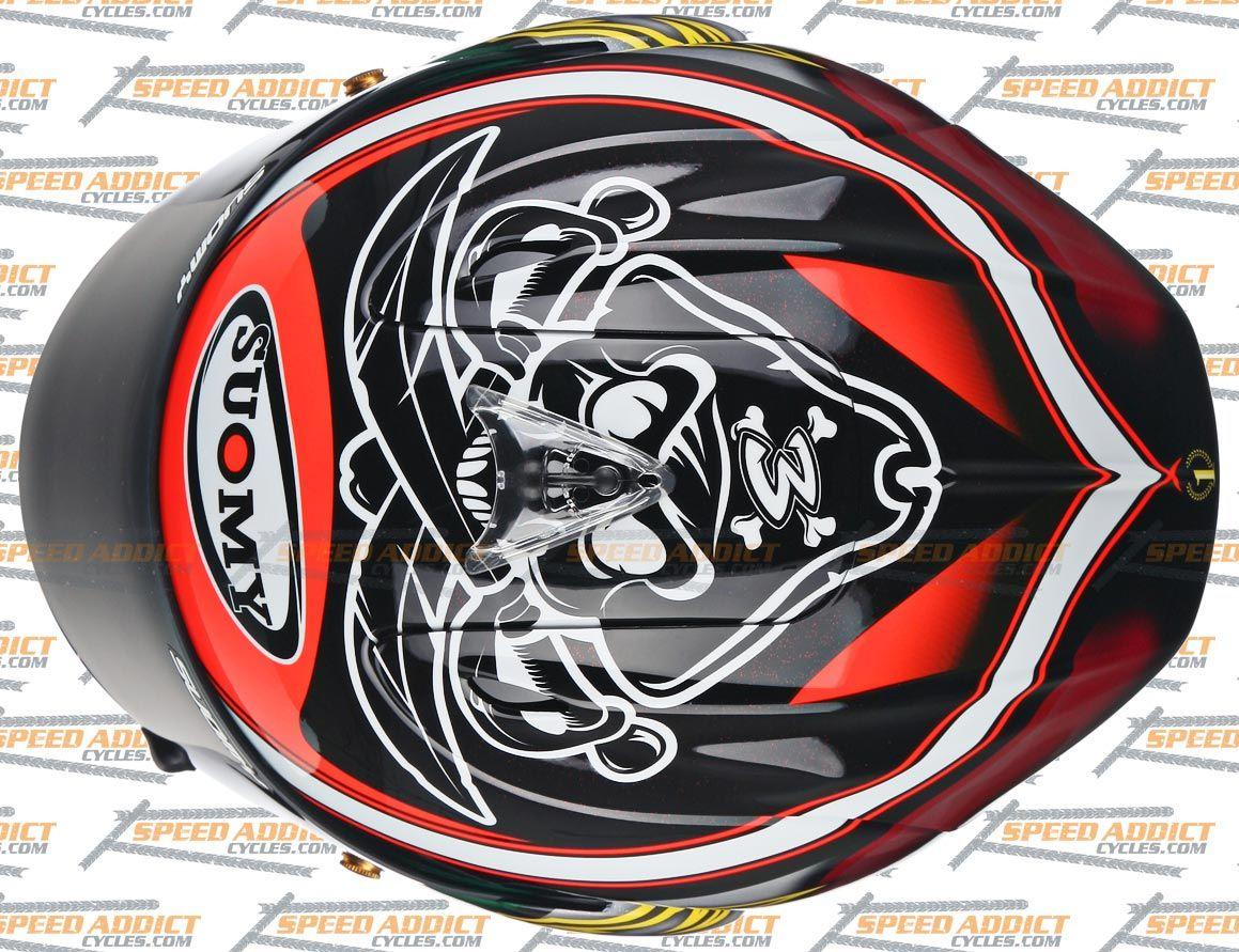 Suomy Excel 2012 BIAGGI Pirate Full Face Motorcycle Helmet Medium