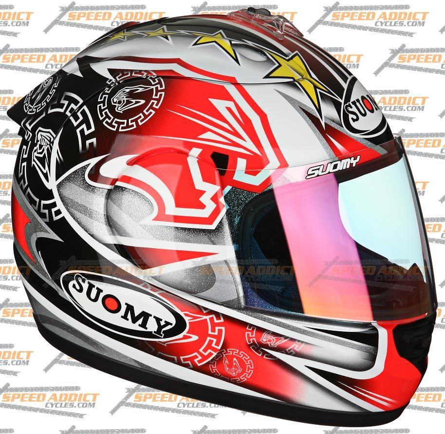 Suomy Spec 1R Extreme Excel BIAGGI Full Face Motorcycle Helmet Medium