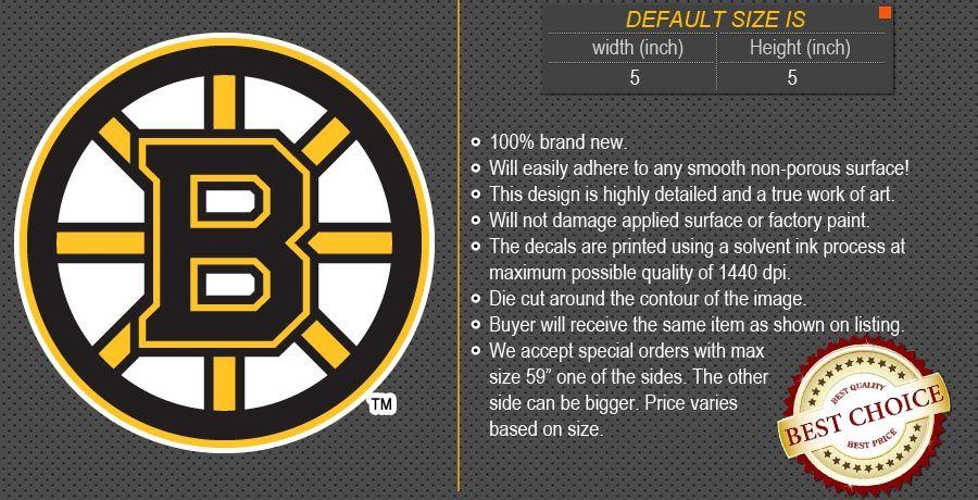 Boston Bruins NHL Hockey Decal Car Bumper Window Wall Sticker
