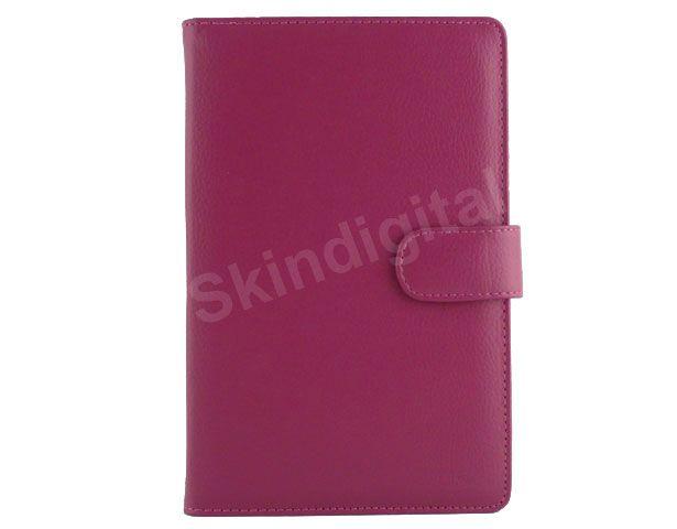 For Nook Tablet / Nook Color Hot Pink Leather Case Cover Jacket