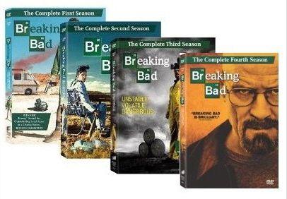 New Sealed Breaking Bad Season 1 4 Complete DVD Set Seasons 1 2 3 4