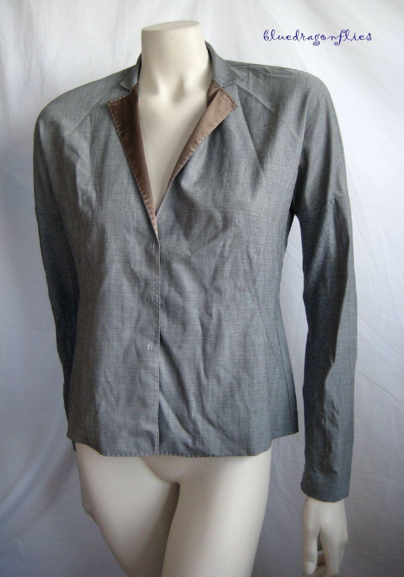 Brunello Cucinelli Lightweight Gray Wool Jacket