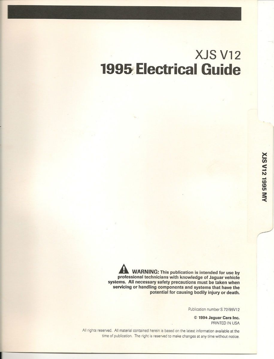 1995 Jag Xjs Wiring Diagram Expert Schematics Jaguar Xj6 Ignition V12 Electrical Guide X Type