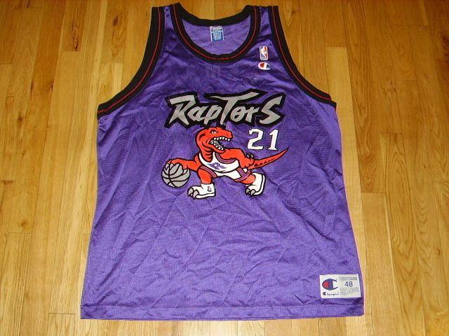 New Champion Marcus Camby Toronto Raptors 21 NBA Rookie RC Throwback