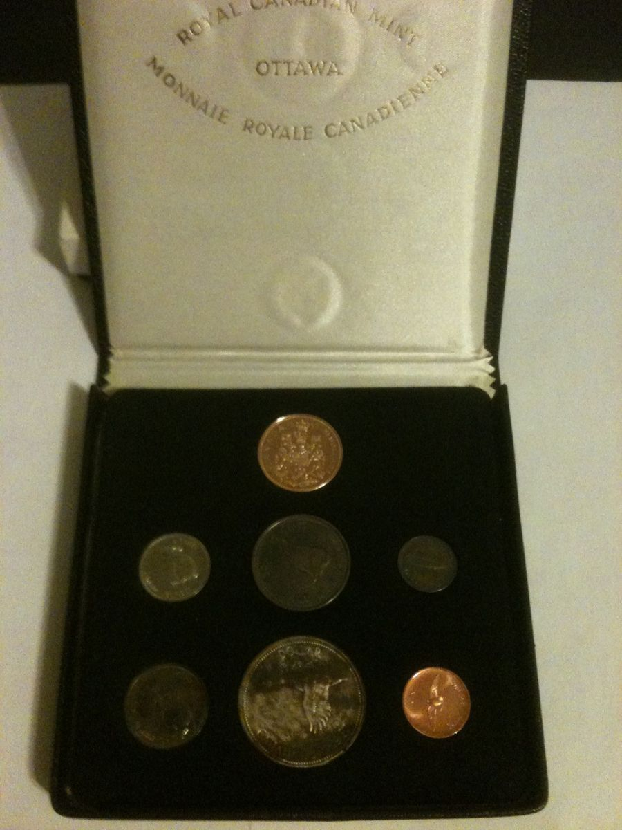 Full 7 Coin 1967 Canadian Centennial Proof Set w $20 Gold Coin
