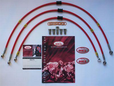 Honda CBR600 F4i 01 06 HEL Stainless Steel braided Front + Rear brake