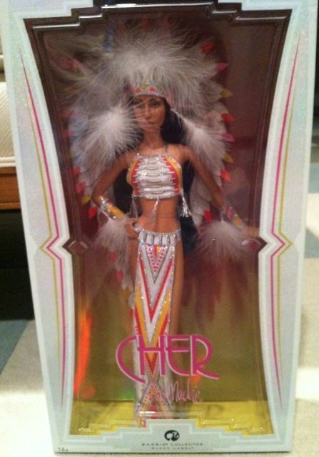 BOB MACKIE 2007 CHER~HALF BREED~ BLACK LABEL BARBIE DOLL NRFB~htf