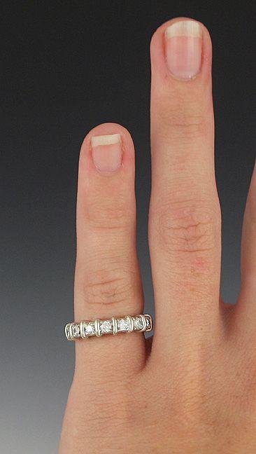 Brilliant 14k White Gold Diamond Anniversary Band Ring