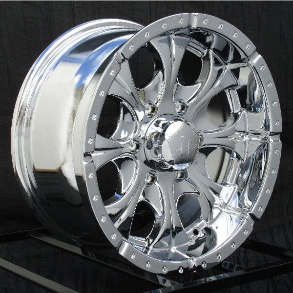 16 inch Chrome Wheels Rims Chevy GMC 6 Lug Truck Helo