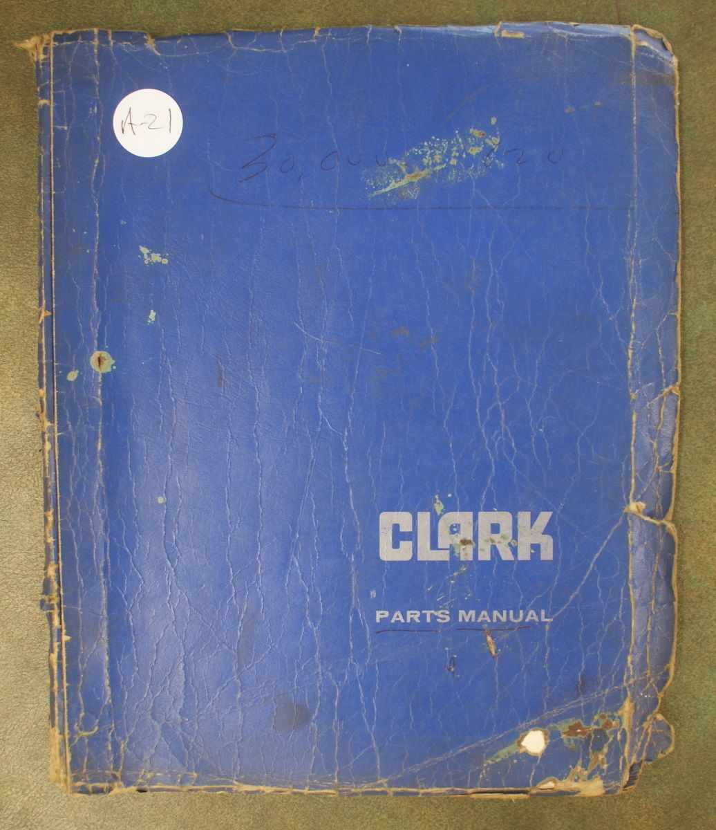 Clark 1975 76 C 500 Y 2030 Forklift Fork Lift Truck Parts Repair Cgc25 Wiring Diagram