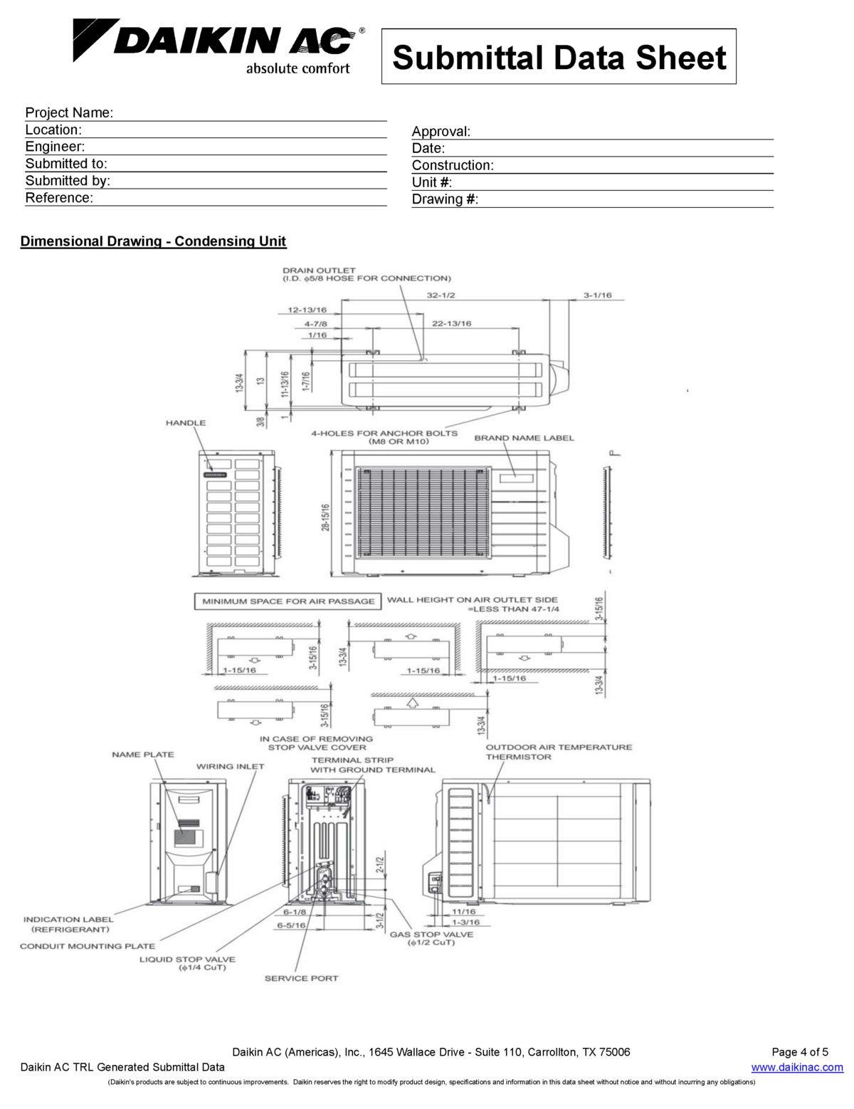 Daikin FTXS18HVJU / RXS18DVJU Ductless Mini split Heat pump
