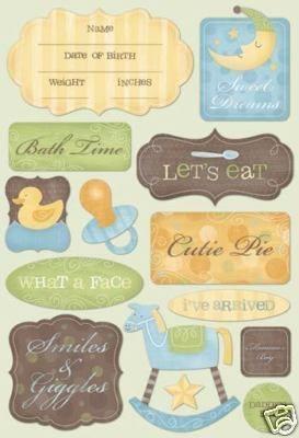 Karen Foster Cutie Pie Baby Boy Stickers