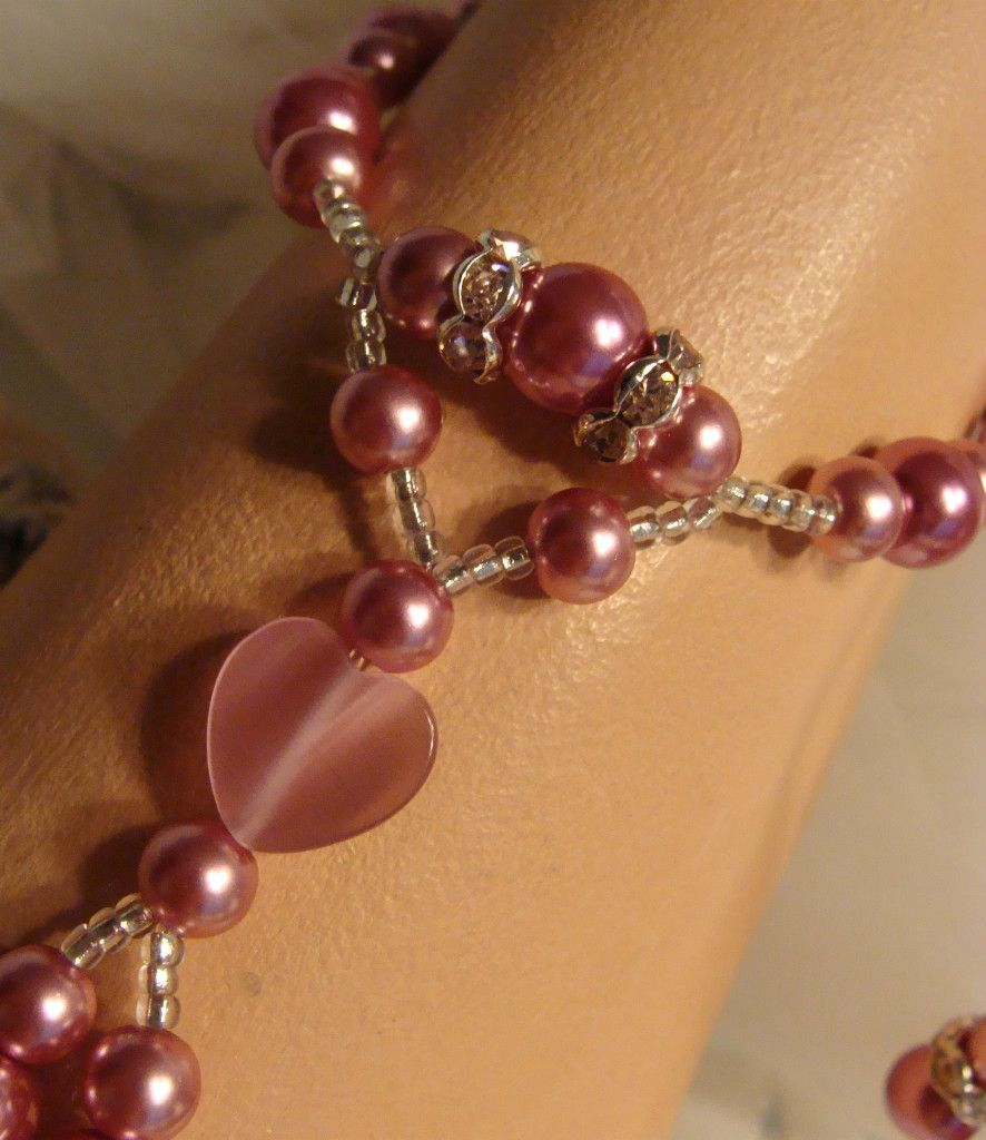 Heart Crystal Pearl Beach Wedding Foot Jewelry Barefoot Sandals Glam