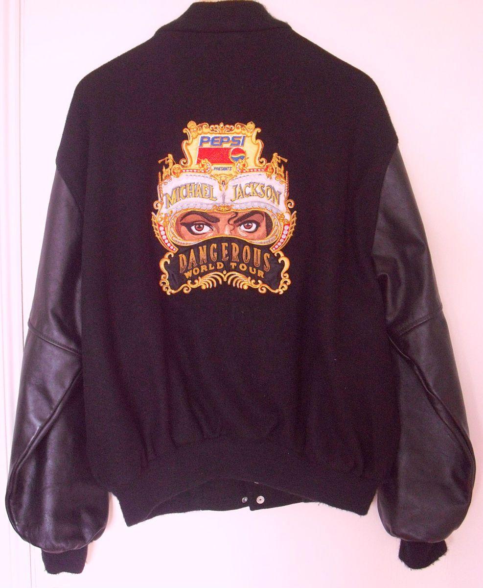 Michael Jackson Dangerous tour jacket leather sleeves extra large