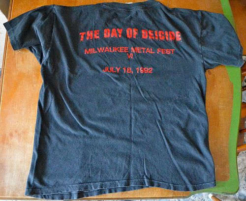 RARE Vtg Deicide Legion Shirt 1992 Large Napalm Death Godflesh Carcass