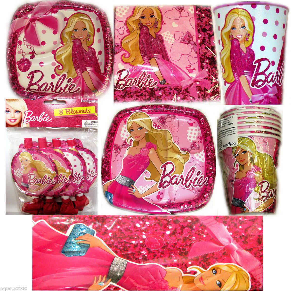 Barbie fashion fairytale birthday party supplies