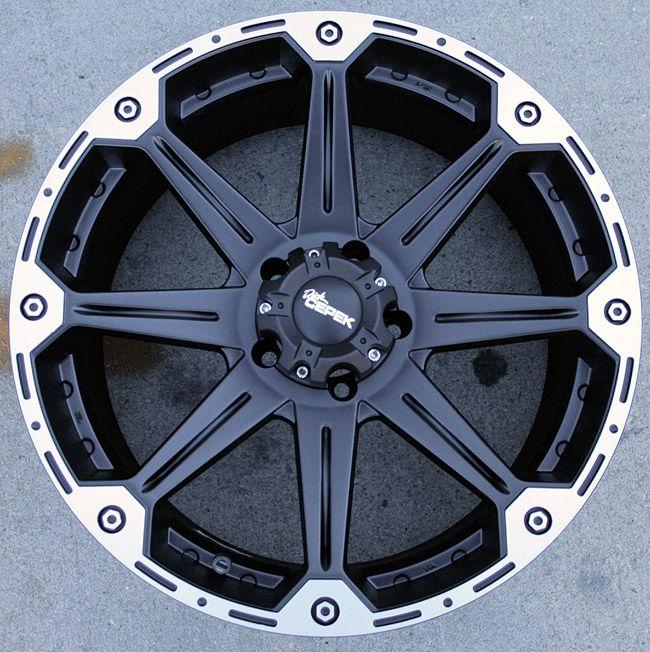 Dick Cepek Torque 22 Black Rims Wheels Dodge RAM 1500