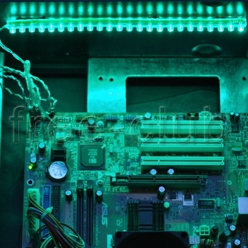 DIY Computer Desktop Case LED Light Mod Kit Neon Green