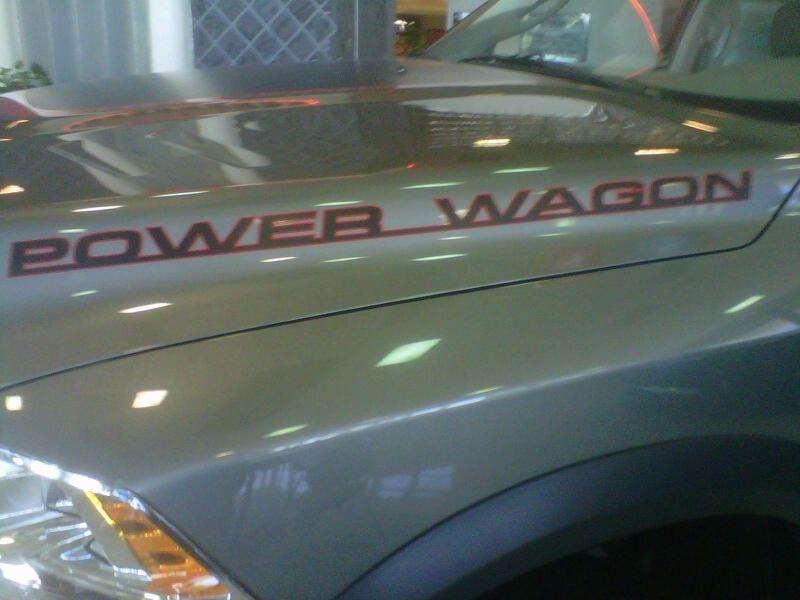2010 2012 Dodge RAM Power Wagon Hood Decals Mopar