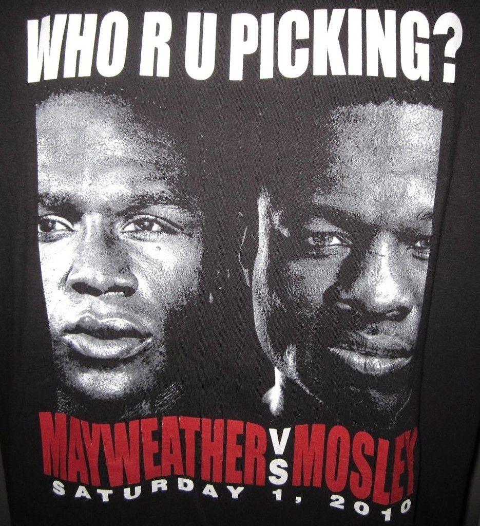 2010 FLOYD MAYWEATHER VS SHANE MOSLEY BOXING T SHIRT MENS 2XL