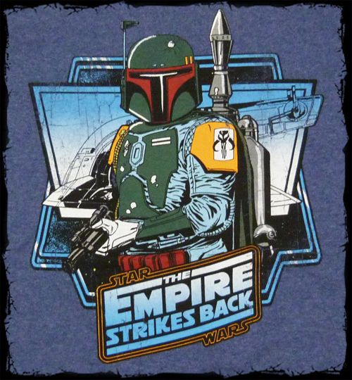 Star Wars   Empire Strikes Back Boba Fett t shirt   Official   FAST