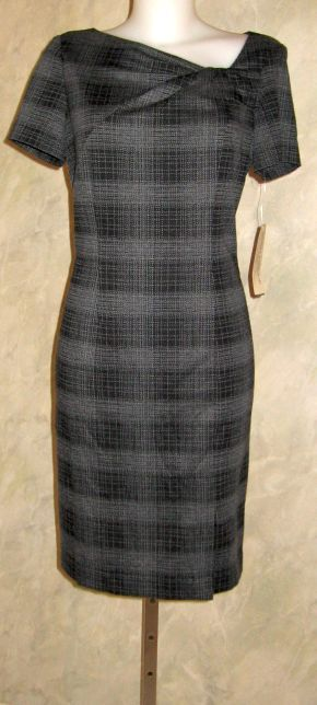 Evan Picone Petite Print Patterned Knit Dress Sz 12p 99