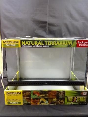 Exo Terra Glass Terrarium Tank 24 By 18 By 18 Inch As Is