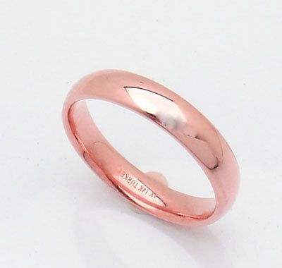 Silk Fit Wedding Band Ring 14k Pink Rose Gold All Sizes