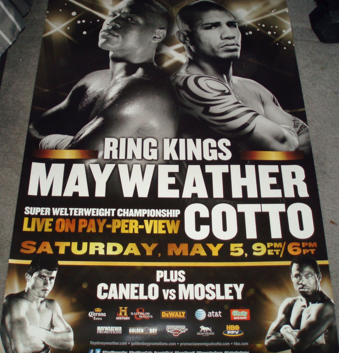 New Floyd MAYWEATHER vs Miguel Cotto Boxing Poster 40x 27