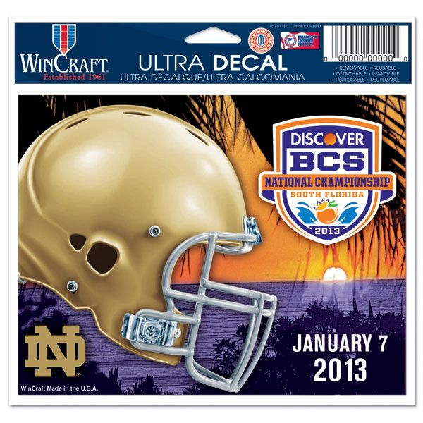 Notre Dame Fighting Irish 2013 BCS National Championship Game 4x6