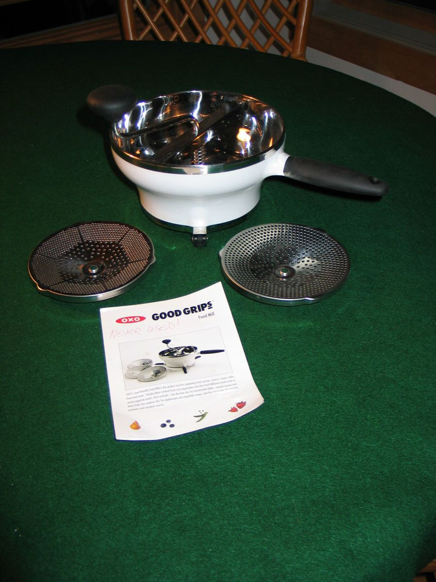 New OXO Good Grips Food Mill w 3 Stainless Steel Discs