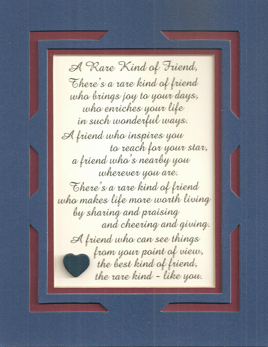 FRIENDs Friendship INSPIRES Sharing GIVING Joy verses poems plaques