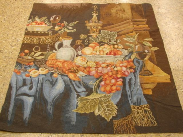 Fine Needle Point Tapestry Rug Loom of Fruit
