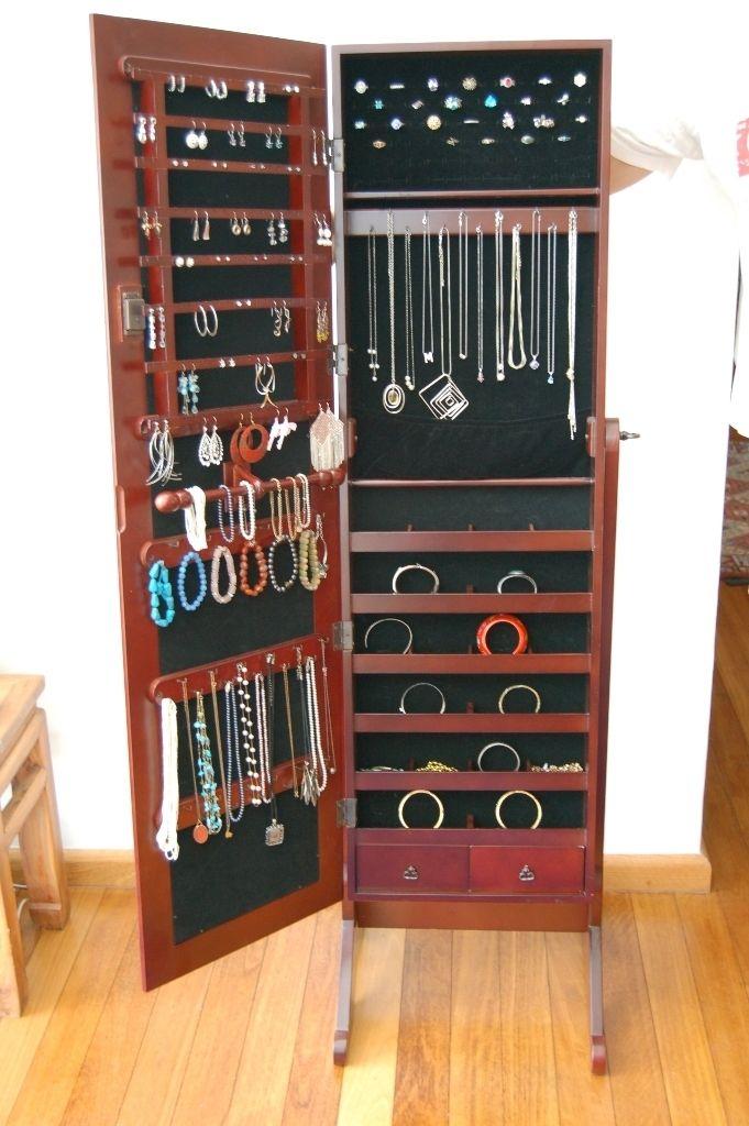 Jewellery Boudoir Cherry Full Length Mirror Jewelry Armoire stores 350
