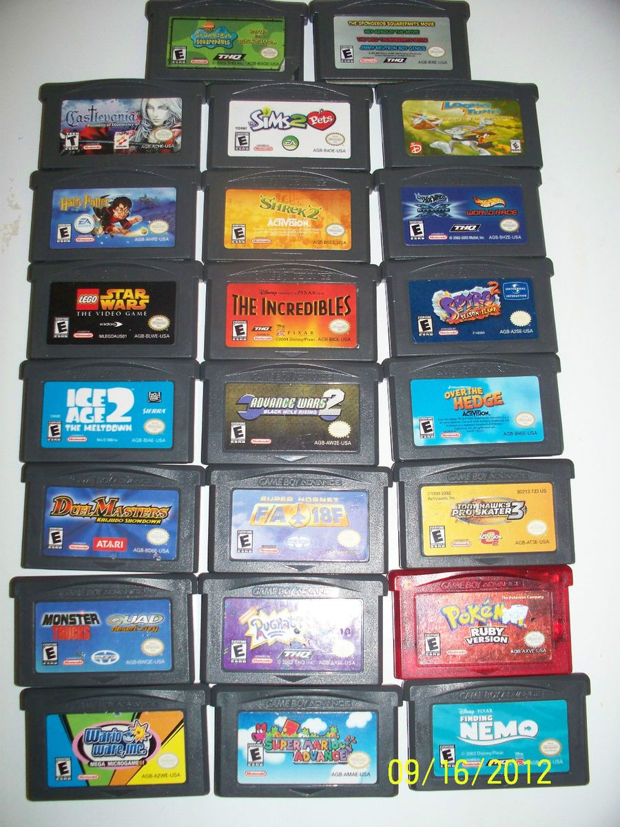 Lot of 22 Game Boy Advance Games