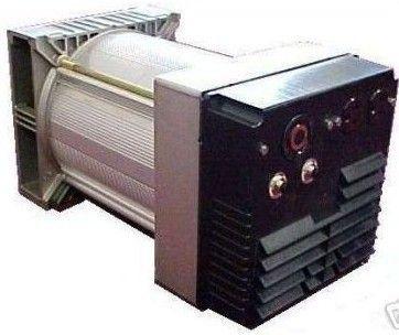 Belt Driven 5000 Watt Generator Head w Outlets MS100SE
