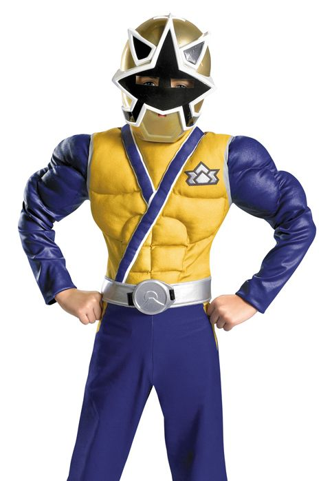 Power Rangers Samurai Gold Ranger Deluxe Halloween Fancy Dress Costume