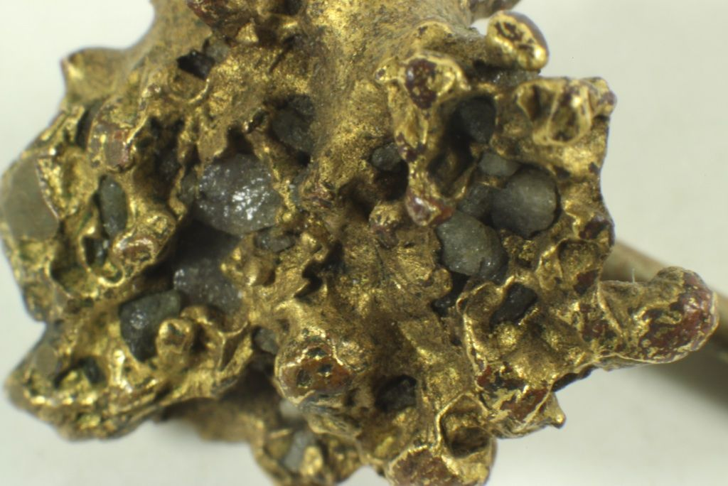 Raw Gold Nugget w/ Stones On Stick Pin Lapel Or Hat Pin 15947