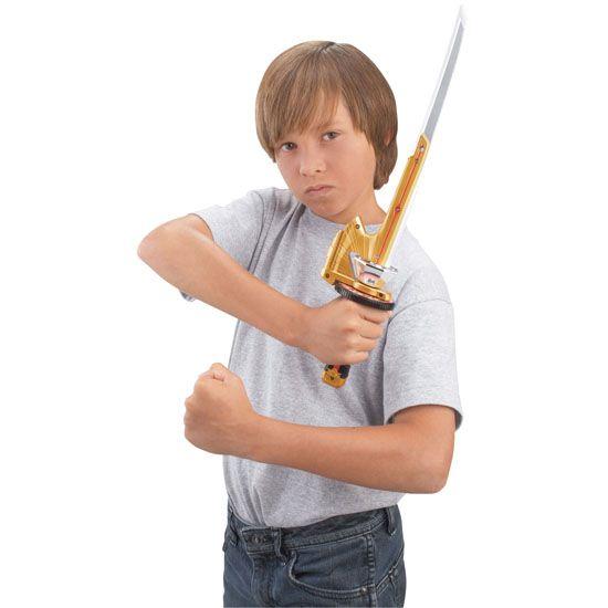 NEW**POWER RANGERS~SAMURAI~SPIN SWORD~GOLD~KNIFE~BLADE~BANDAI~COSTUME