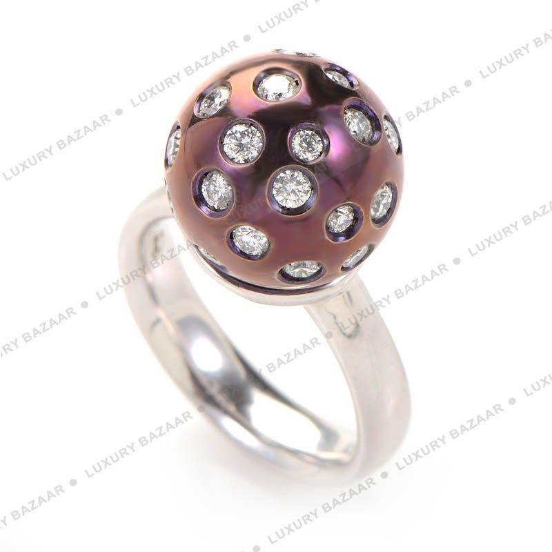 Salavetti 18K White Gold Diamond Ring