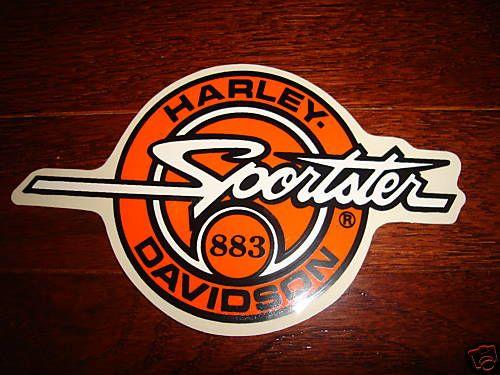 Harley Davidson Vtg Sportster 883 Tank Decal Orange