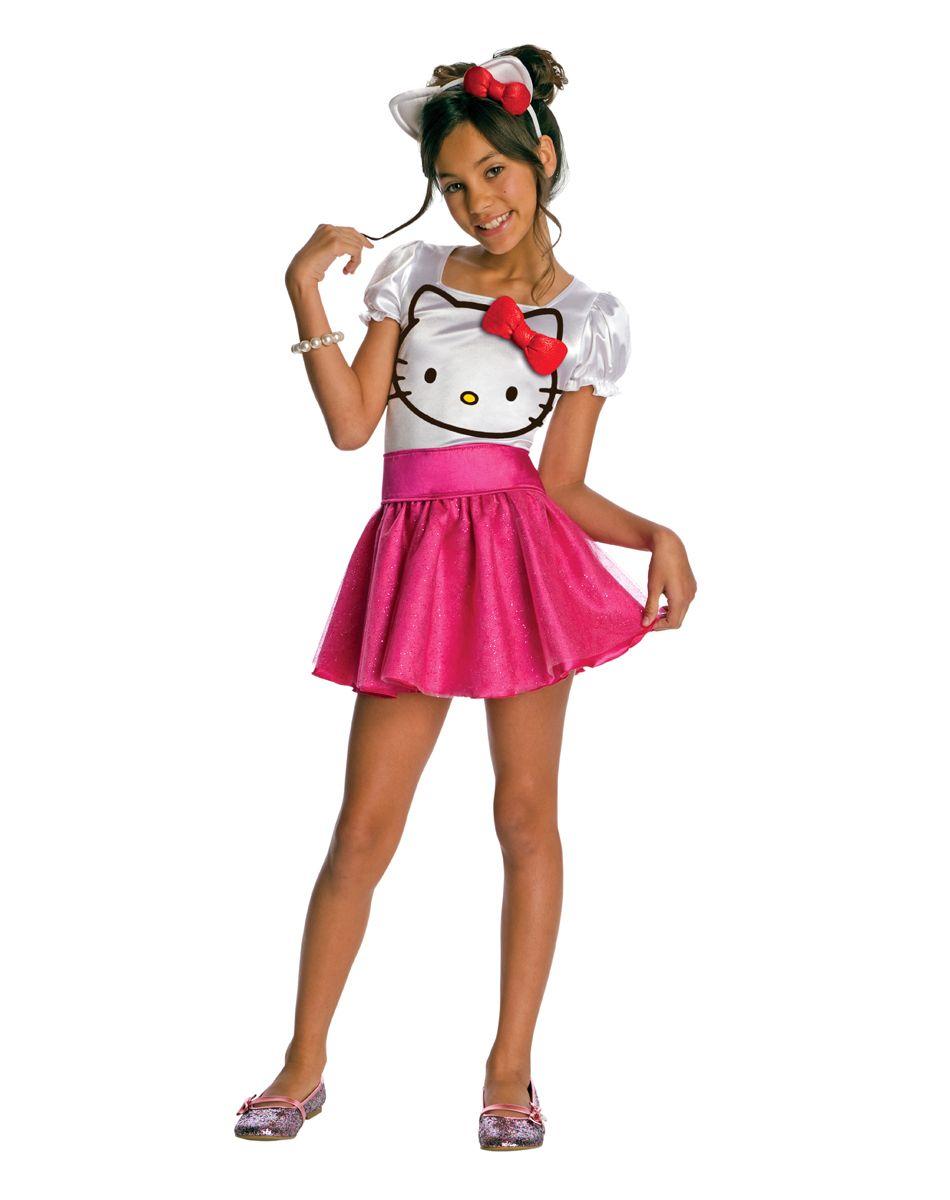 Child Hello Kitty Tutu Dress Costume Halloween